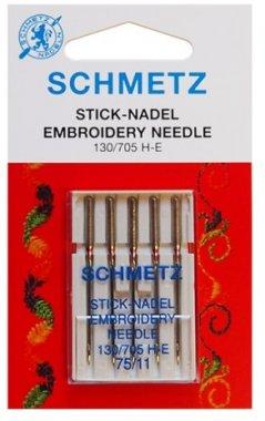 jehly vyšívací 705H/75-5ks Schmetz