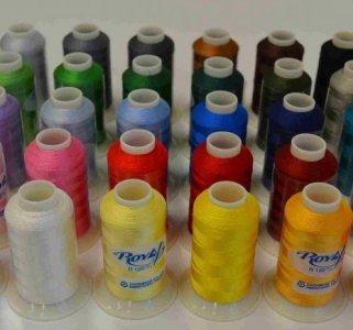 Vyšívací nitě ROYAL 5000m viskóza různé barvy